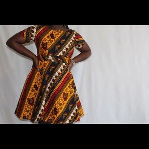 Spring custom made African/Ankara Print dress